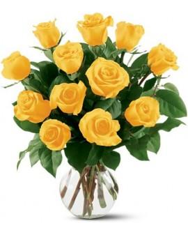 11 žutih ruža